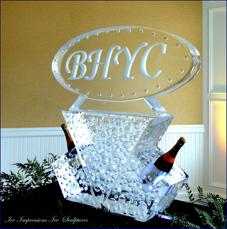 By Ice Impressions, ice-impressions.com, Ice Impressions Custom Ice Sculptures, Bay Harbor Yacht Club, Bay Harbor Yacht Club Custom Anniversary Ice Sculpture, Ice Impressions.