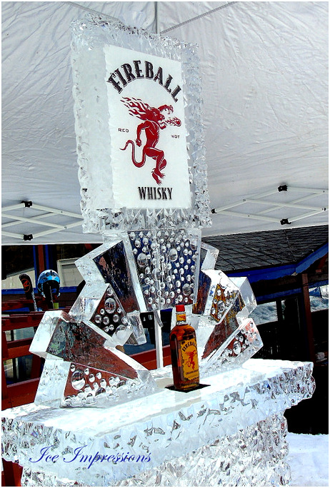 By Ice Impressions, ice luge, Ice Sculpture, Ice Carving, Ice carvings, Ice Sculptures, Ice Impressions Custom Ice Sculptures.
