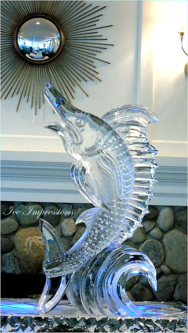 By Ice Impressions, ice-impressions.com, Custom Hand Sculpted Sailfish Ice Sculpture, Ice Impressions Custom Ice Sculptures, ice-impressions.com, anniversary ice carvings, anniversary ice sculptures, Golf Club Custom Ice Sculptures, ice sculpture, ice sculptures, ice carving, ice carvings, yacht club ice sculptures, Country club ice sculpture, ice impressions, Sculptor Steven Berkshire, Steven Berkshire, Petoskey Michigan Ice Sculptures, Michigan Ice Sculptures, Michigan Ice Sculpture.