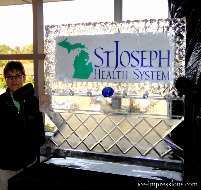 Ice Impressions Custom Event Promotion Ice Signs and Ice Pedestals