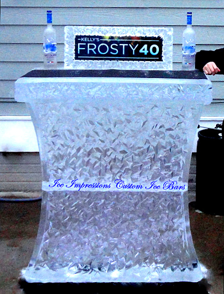 By Ice Impressions, ice-impressions.com, Ice Impressions Custom Ice Sculptures, Ice Bar, Ice Bar Michigan, ice bars, Mini Ice Bar, Special event ice sculpture, Ice Sculpture, Ice Carving, Ice Carvings, Ice Sculptures, ice sculptures Michigan, Birthday Party, Birthday Party Ideas, Ice Impressions Custom Ice Sculptures.