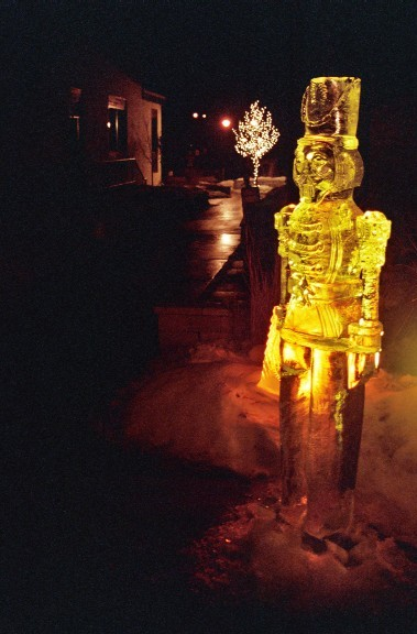 ice sculpture, ice carving, toy soldier ice sculpture, ice impressions, ice impressions ice sculptures.