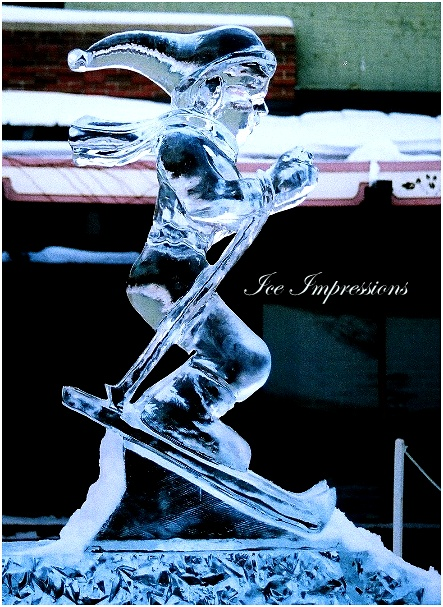 By Ice Impressions, ice-impressions.com, Ice Impressions Custom Ice Sculptures, ice sculptures, ice carving, ice carvings, special event ice sculptures, Custom Ice Carvings, Custom Ice Sculptures, Exhibition Ice Sculptures, Skier Ice Sculpture, Ice Impressions, Traverse City, Traverse City, Ice Sculptures,Michigan Winter Festivals.